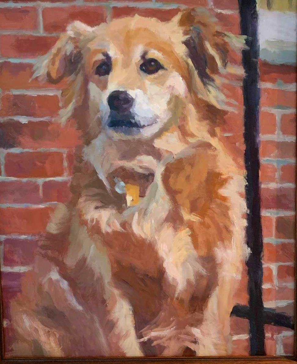 Karen's dog painting